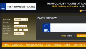Site Officiel : Irish Number Plates Ireland Create Design and Order Online