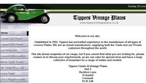 Official website : http://www.tippersvintageplates.co.uk
