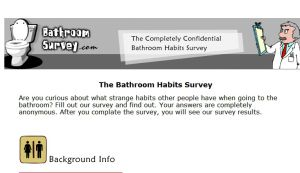 Official website : http://www.bathroomsurvey.com