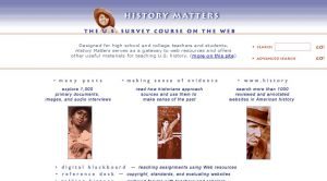 Official website : http://historymatters.gmu.edu