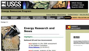 Official website : http://energy.usgs.gov