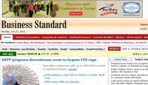 Official website : http://www.business-standard.com