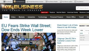 Official website : http://www.foxbusiness.com