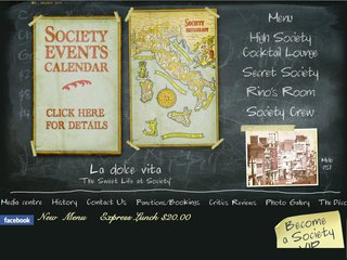 Official website : http://www.societyrestaurant.com