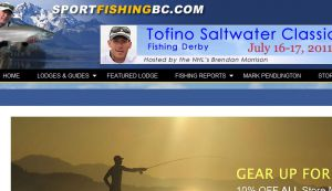 Site Officiel : Sportfishing BC - Featured Lodges, Mark Pendlington, Saltwater & Freshwater Fishing, Tackle techniques and reviews.