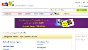 Official website : http://toys.shop.ebay.in