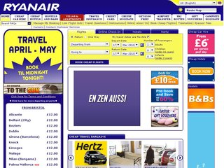 Official website www.ryanair.com