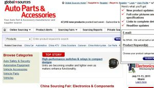 Official website : http://www.autoparts.globalsources.com