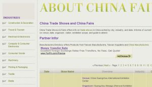 Official website : http://www.aboutchinafair.com