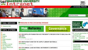The intranet mak ac ug official website