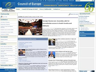 The coe int official website