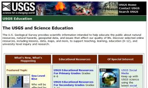 Official website : http://education.usgs.gov