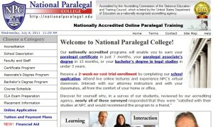 Official website : http://nationalparalegal.edu