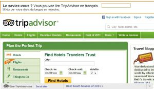 Official website : http://www.tripadvisor.com