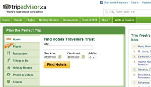 Official website : http://www.tripadvisor.ca